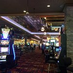 Casino area where front desk is located