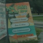 Sign at turn entrance to Miss Vicki's On The River