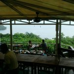 View of bay from the on-site restaurant