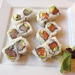 Salmon and tuna rolls