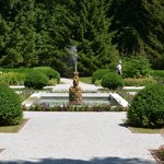 Fountain in formal gardens