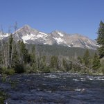 Salmon river adjacent to the ranch