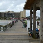 looking from Springmaid Pier back toward our Resort building