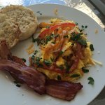 Yummy made-to-order breakfast on front porch. Fresh local ingredients, great coffee, and amazing