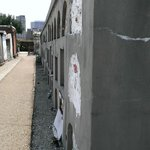 A long row of tombs in St. Louis Cemetery #1
