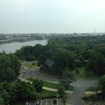 View from the top- Potomac and Washington Monument