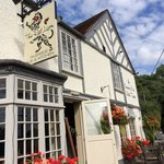The Red Lion at Hunnington, Warwickshire.  A great pub in the summer for sitting outside (as p