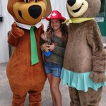 Hanging out with Yogi and Cindy Bear