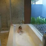 Huge bath in 2 bed villa