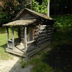 a small replica of a traditional home