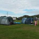 Tents pitched