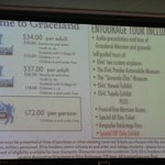 Prices of the Tour of Graceland