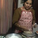 Rani giving us a cooking lesson