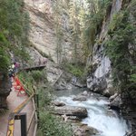 Johnston Canyon, walkway to lower falls, August 2014