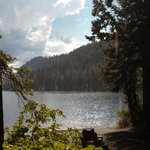 View of Suttle Lake from Trappers Cabin porch.