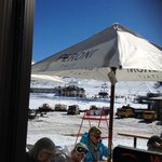great view of the slopes from the bar