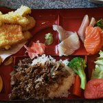 Teriyaki Beef and Sashimi Bento Box