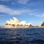 Iconic Opera House on Sydney harbour taken from the Parramatta  ferry