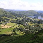 View of Grasmere and beyond from Helm Crag