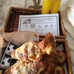 Breakfast was delivered to our door. The croissants were still warm!
