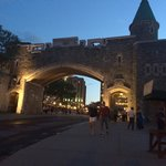 The gate into Vieux Quebec on Rue Ste-Jean