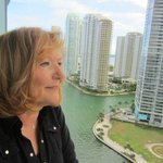 From the balcony on the 12th floor of the Epic, Miami Fl