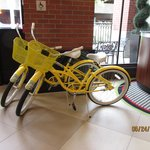 Cute little bikes for guests to use