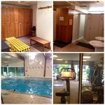 The lovely pool & gym area
