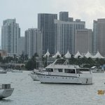 View of Miami from boat trip