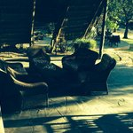 The outside part of the lounge