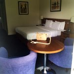 Spacious room with comfy bed.Room has little balcony so its nice.Bathrobe in the room,toilet spa