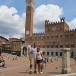 Jamie and Shirleen in the Piazza del Campo