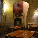 pretty restaurant in the cellar