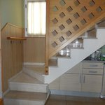the marble staircase in the apartments