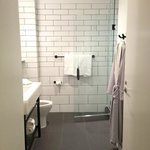 Bathroom - look at the cool tile!