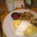 Cape Charles omelet with shrimp and scallops
