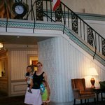 old lobby staircase & clock