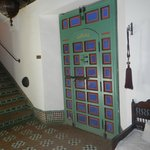 Lovely doorway and tiled stairs