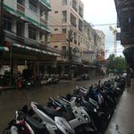 Outside the hotel - after a morning shower rain in Patong