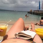 mango smoothie with a view