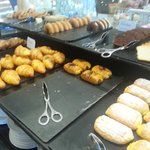 Breakfast pastries selection
