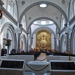 The Modern Basilica was built in the spirit of the older architecture, and is adjacent to the co