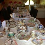 The lodges, even have the space to host a 'Vintage Tea party' 