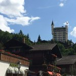 towering above Gstaad
