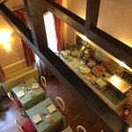 View of the breakfast room from the loft