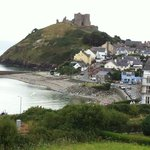 Criccieth & Castle from the room