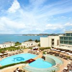 View to the Kempinski Hotel Adriatic Pool Area at Daytime