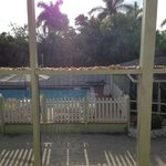 Pool view from porch unit 18