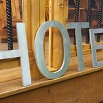 Hotel sign found outside