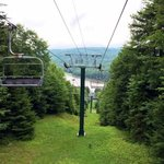 Ski lift down to Shavers Lake